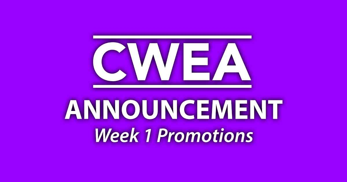 Special Announcement: Week 1 Promotions